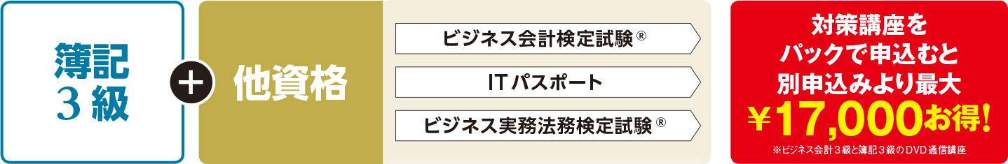 簿記3級合格パック